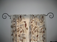 Curtain rod and brackets