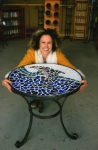 Mosaic table frame