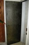 Steel door with rivets
