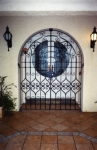 Arched, scroll gates