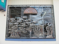 School of fish window panel