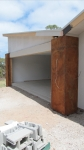 Corten steel panelling