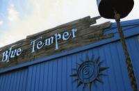 Blue Temper Sign